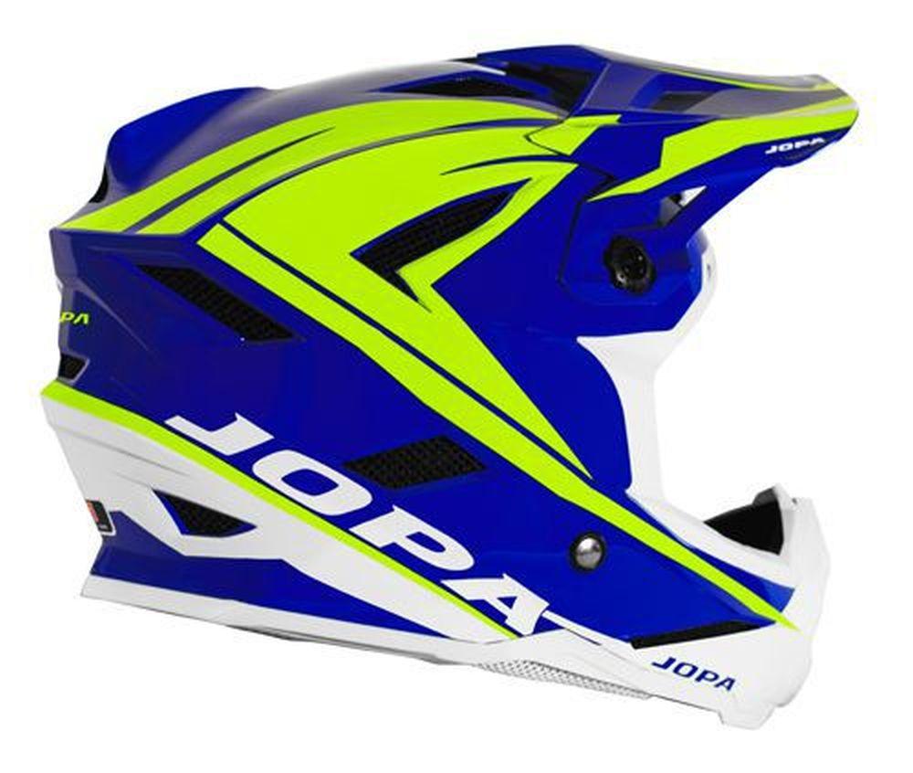 JOPA Flash MTB Helm blau neongelb