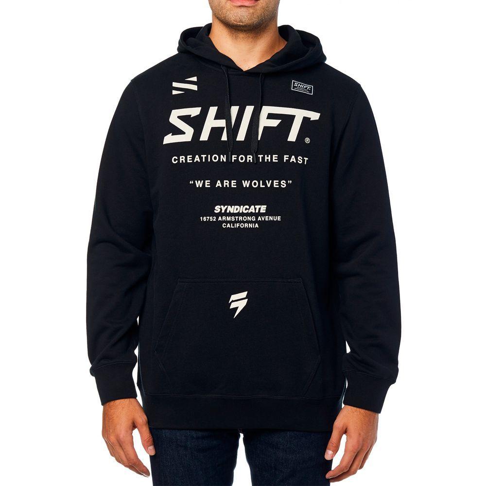SHIFT Muse Fleece Kapuzen Pullover schwarz