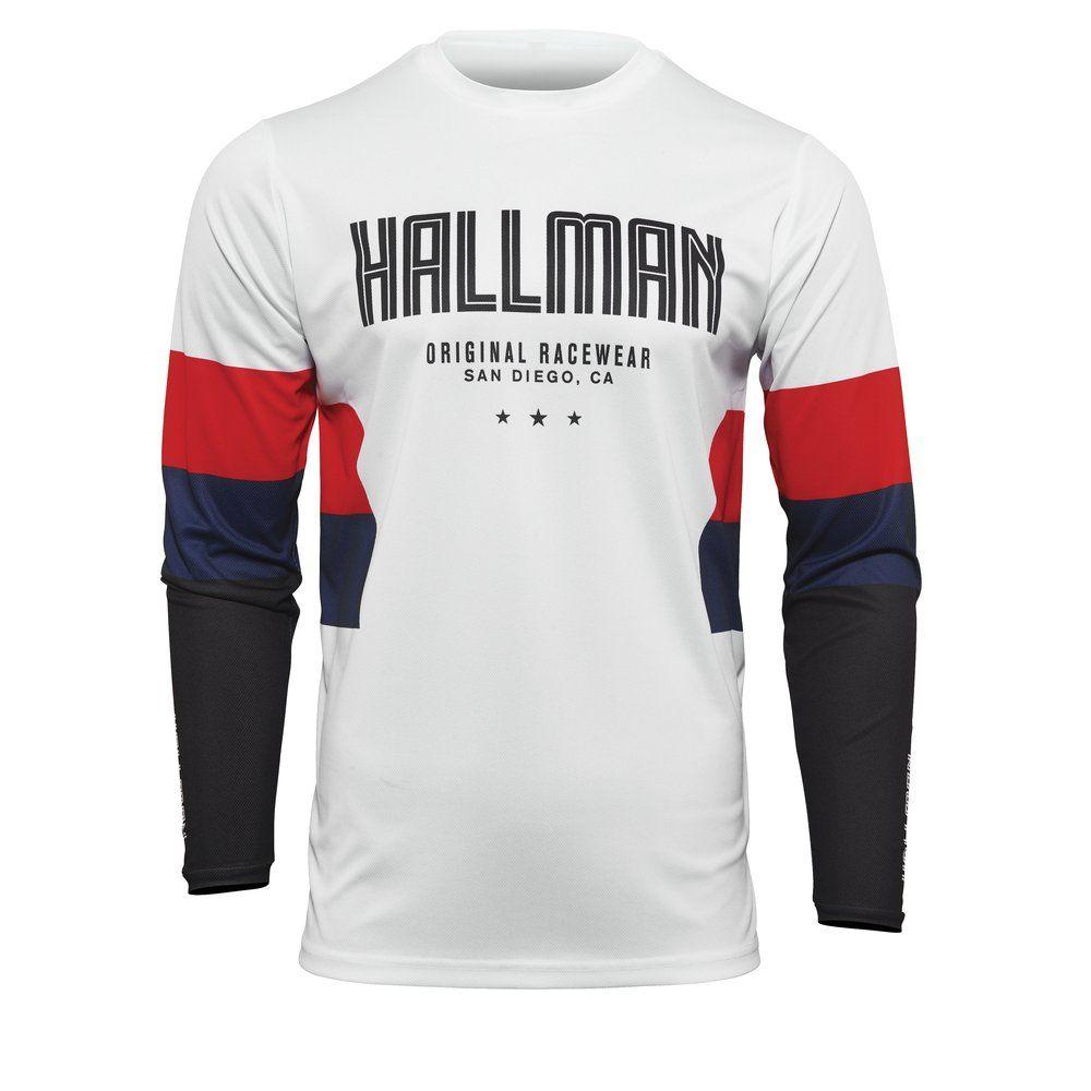 THOR Hallman Differ Drift  Motocross Jersey weiss rot blau