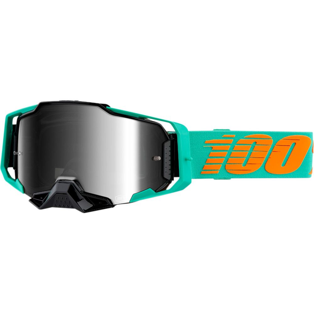 100% Armega Clark MX MTB Brille silber verspiegelt