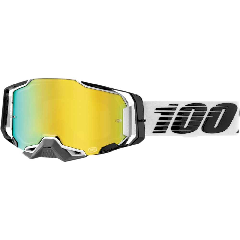 100% Armega Atmos MX MTB Brille gold verspiegelt