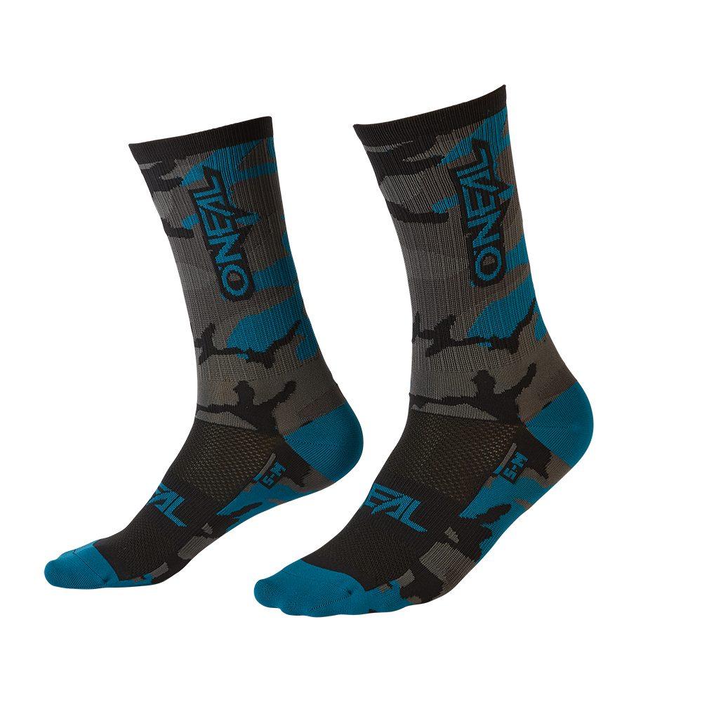 ONEAL Performance Camo V.22 MTB Socken grau blau schwarz