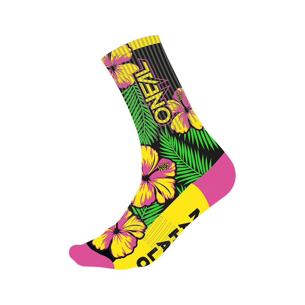 ONEAL Performance Island V.22 MTB Socken pink grün gelb