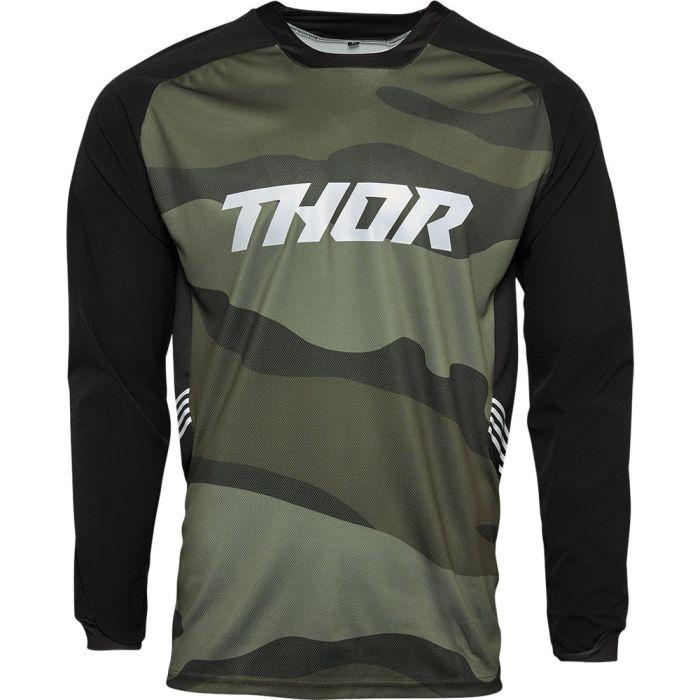THOR Terrain Motocross Jersey grün camo