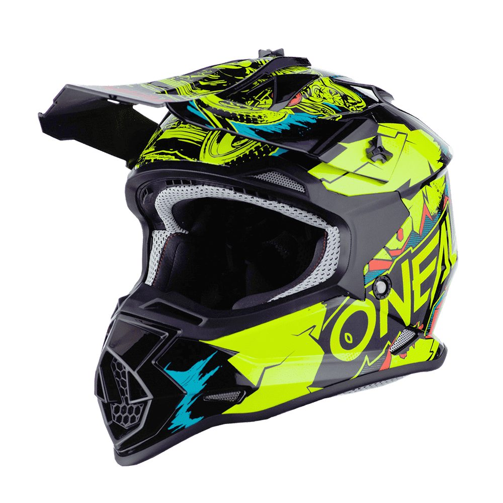ONEAL 2SRS Youth Villain MX Kinder Helm gelb