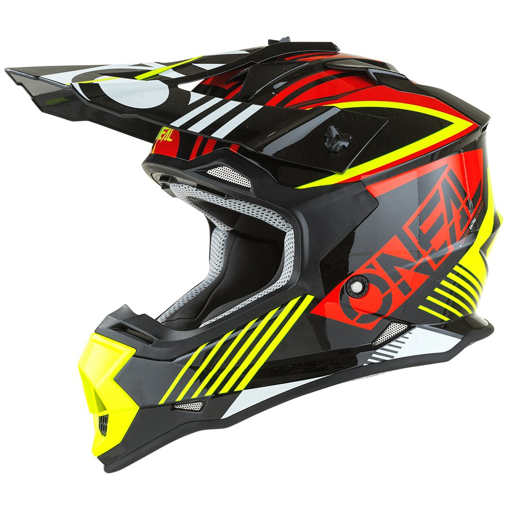 ONEAL 2RS Youth Rush V.22 MX Kinder Helm rot gelb