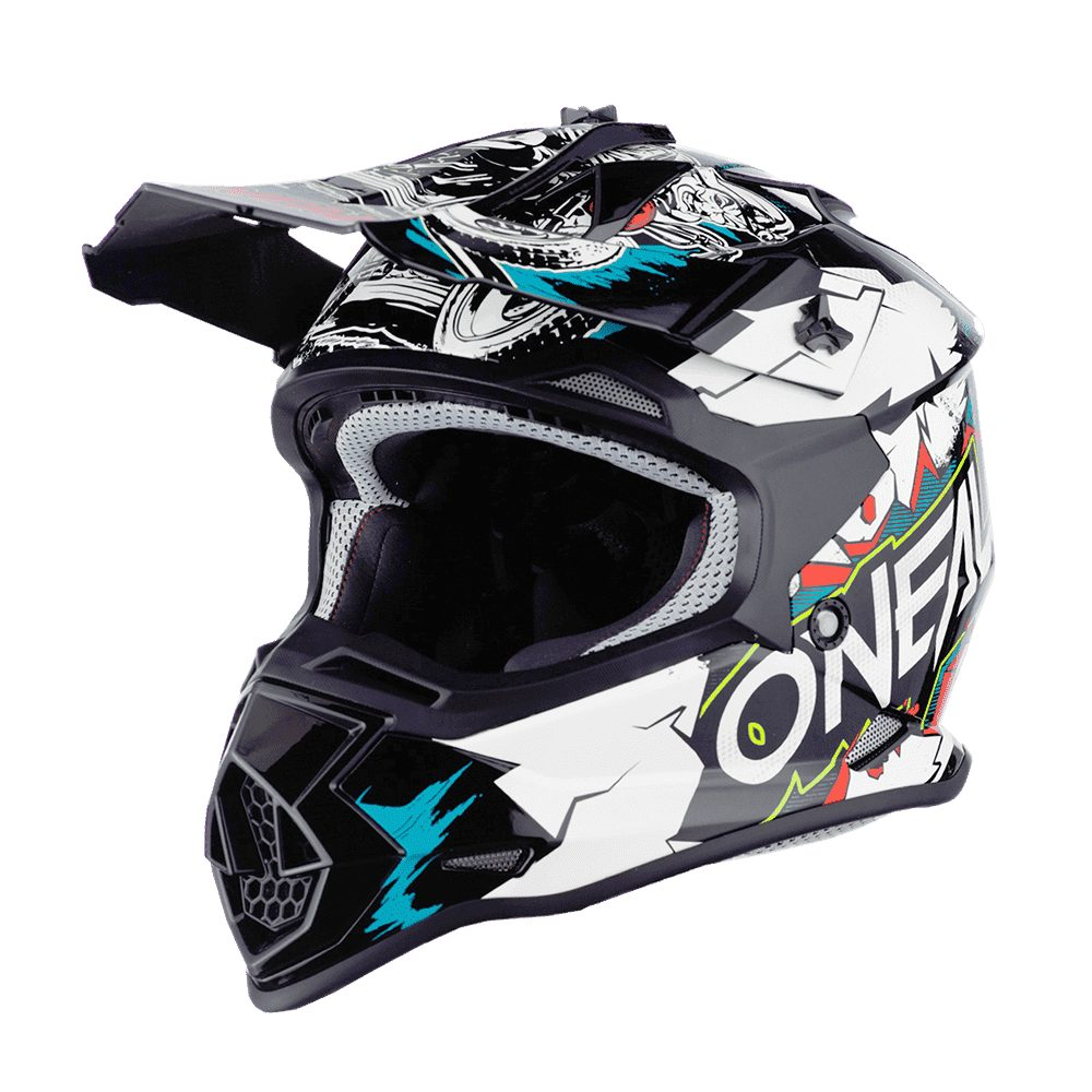 ONEAL 2SRS Youth Villain MX Kinder Helm weiss