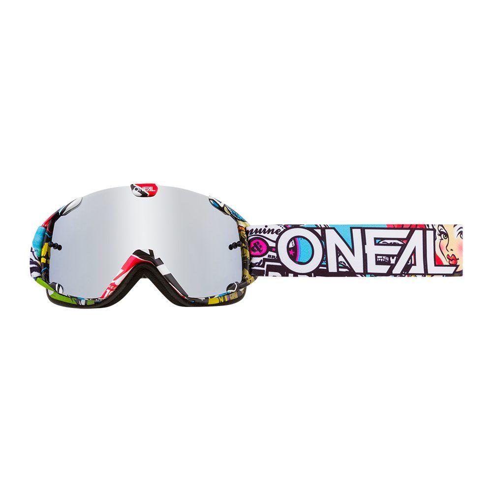 ONEAL B-30 Crank Youth MX MTB Kinder Brille multi silber verspiegelt