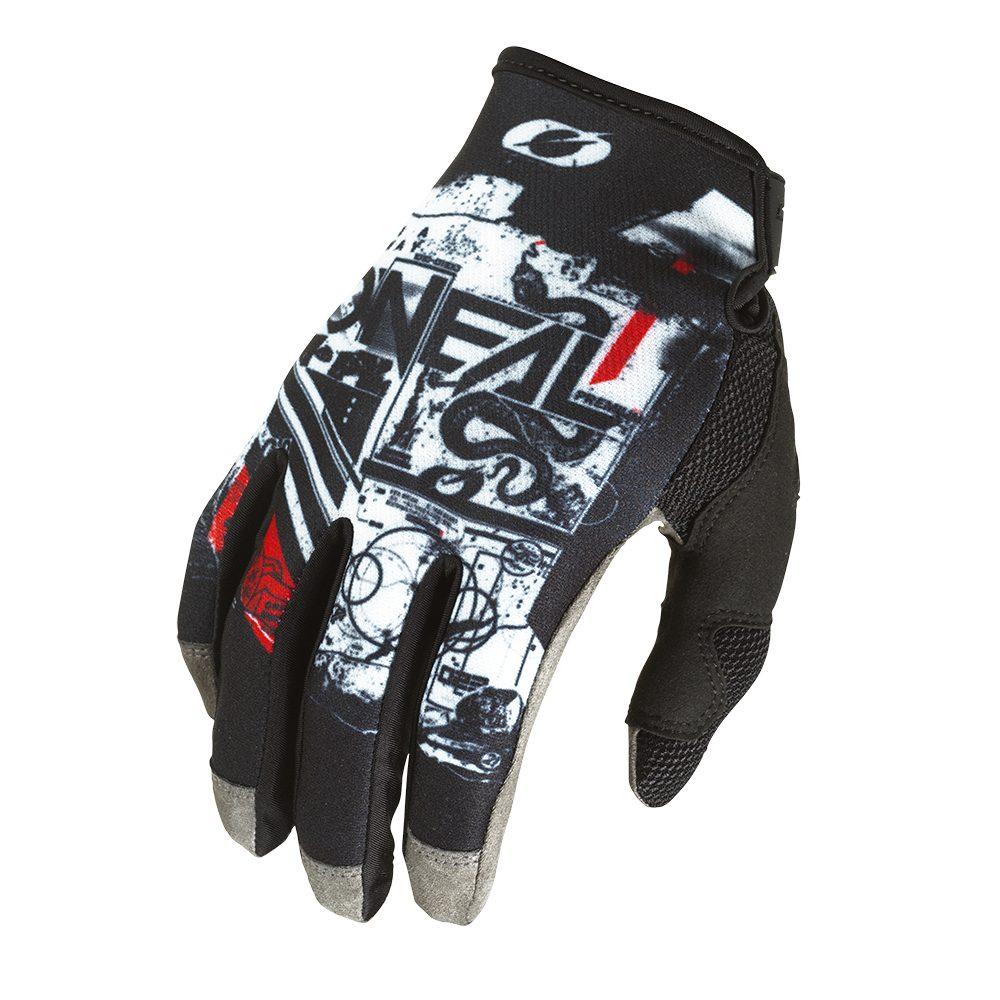 ONEAL Mayhem Scarz V.22 MX MTB Handschuh schwarz weiss rot