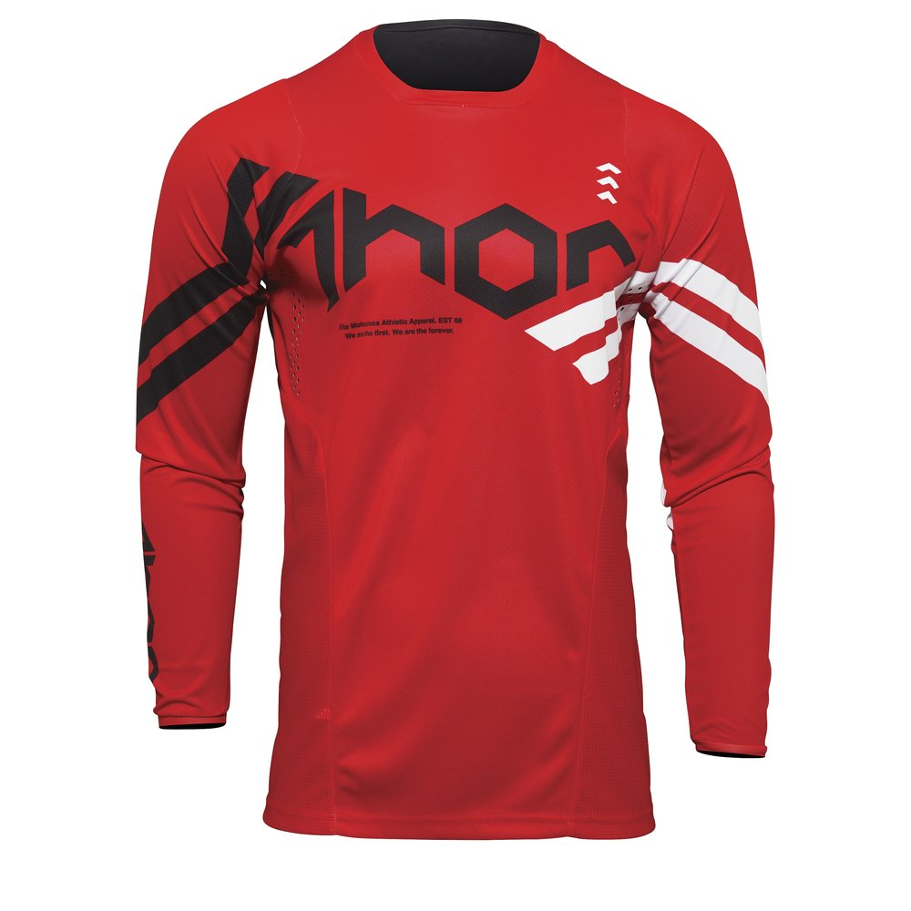 THOR Pulse Cube Youth Kinder Motocross Jersey rot weiss