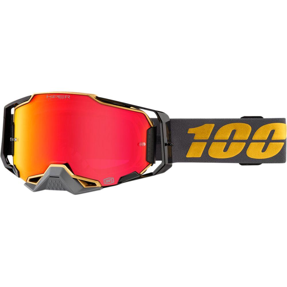 100% Armega Falcon5 MX MTB Brille rot verspiegelt