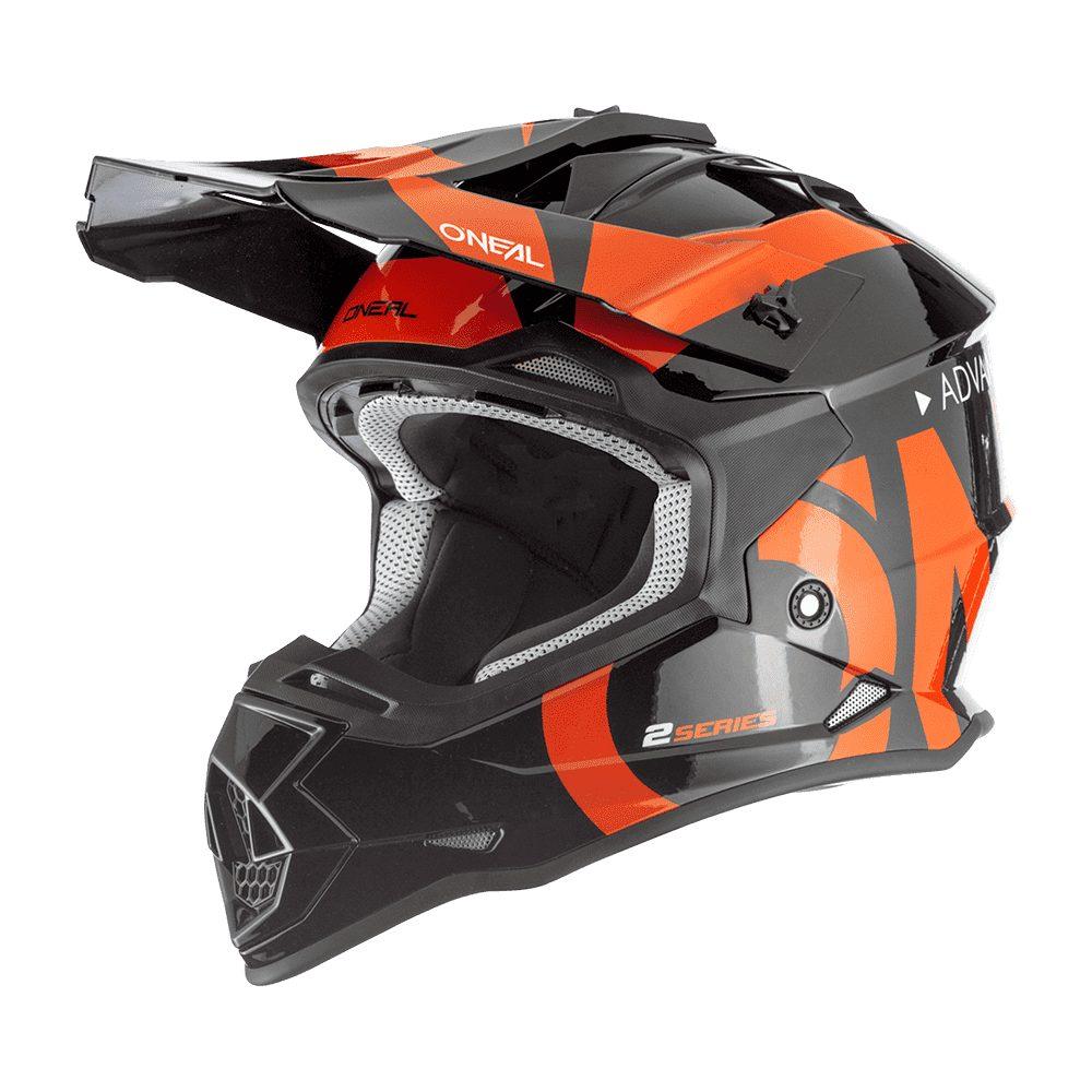 ONEAL 2SRS Youth Slick MX Kinder Helm schwarz orange