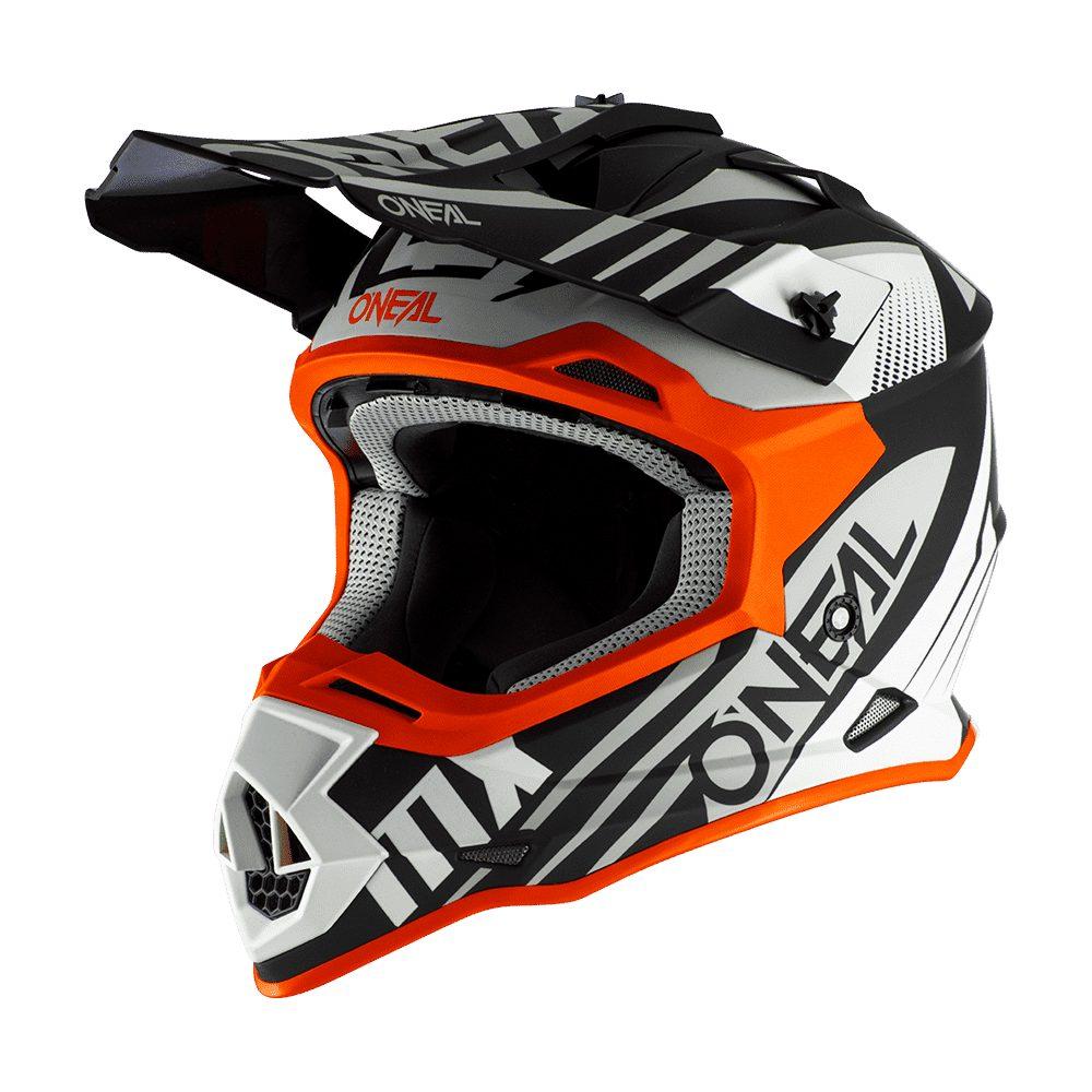 ONEAL 2SRS Spyde 2.0 MX Helm schwarz weiss orange