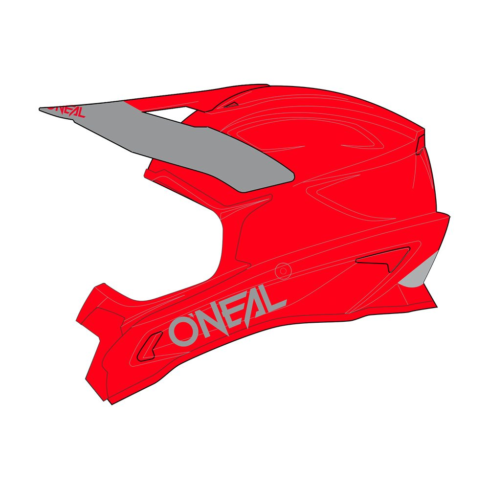 ONEAL 1SRS Solid MX Helm rot