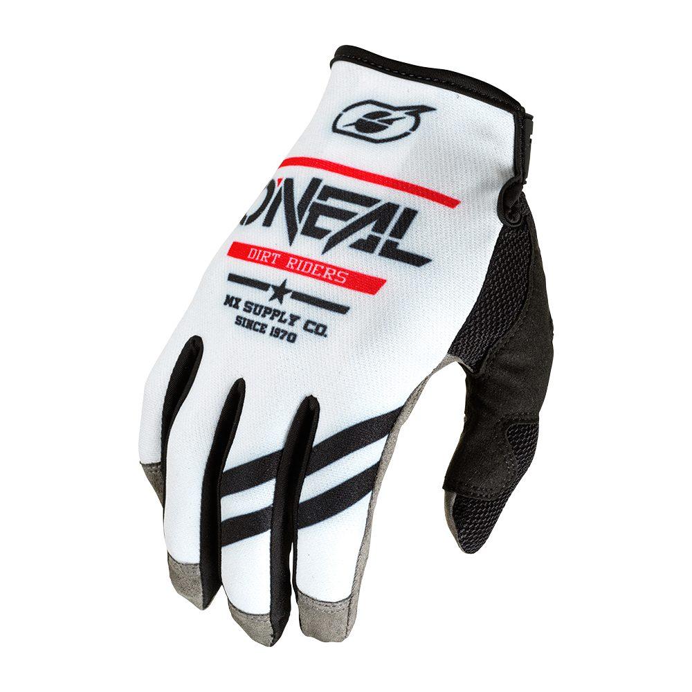 ONEAL Mayhem Squadron V.22 MX MTB Handschuh weiss schwarz
