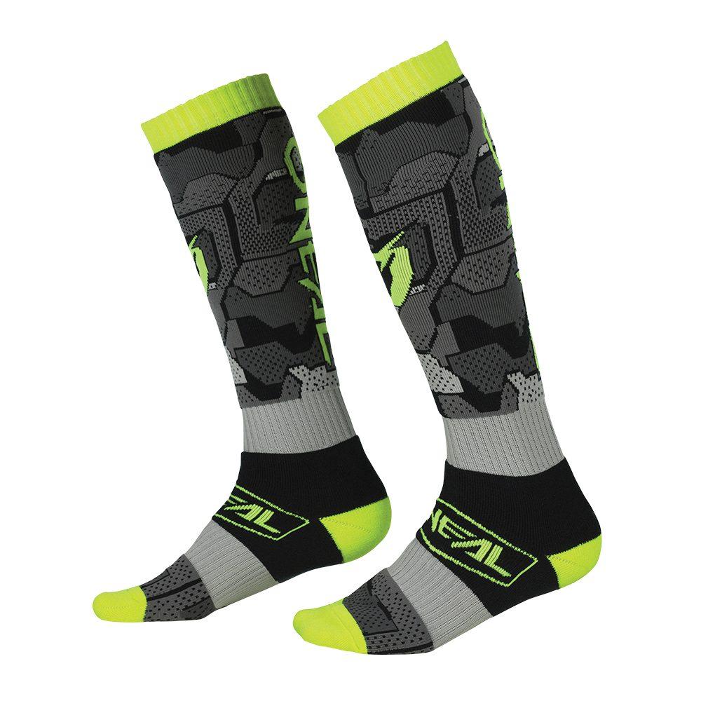 ONEAL PRO Camo V.22 MX Socken grau gelb