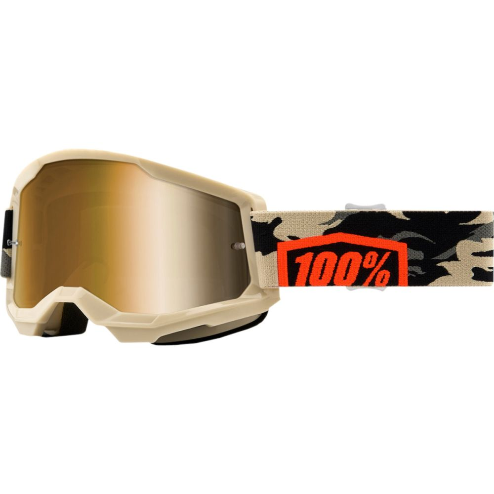 100% Strata 2 Kombat MX MTB Brille gold verspiegelt