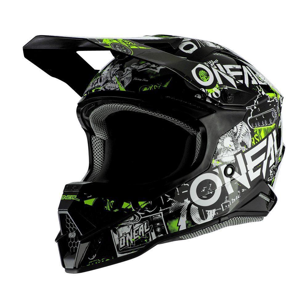 ONEAL 3SRS Attack 2.0 MX Helm schwarz gelb