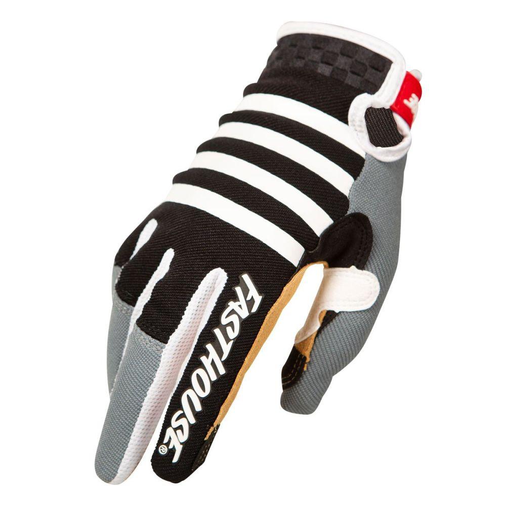 FASTHOUSE Speed Style Striper MX MTB Handschuhe schwarz grau