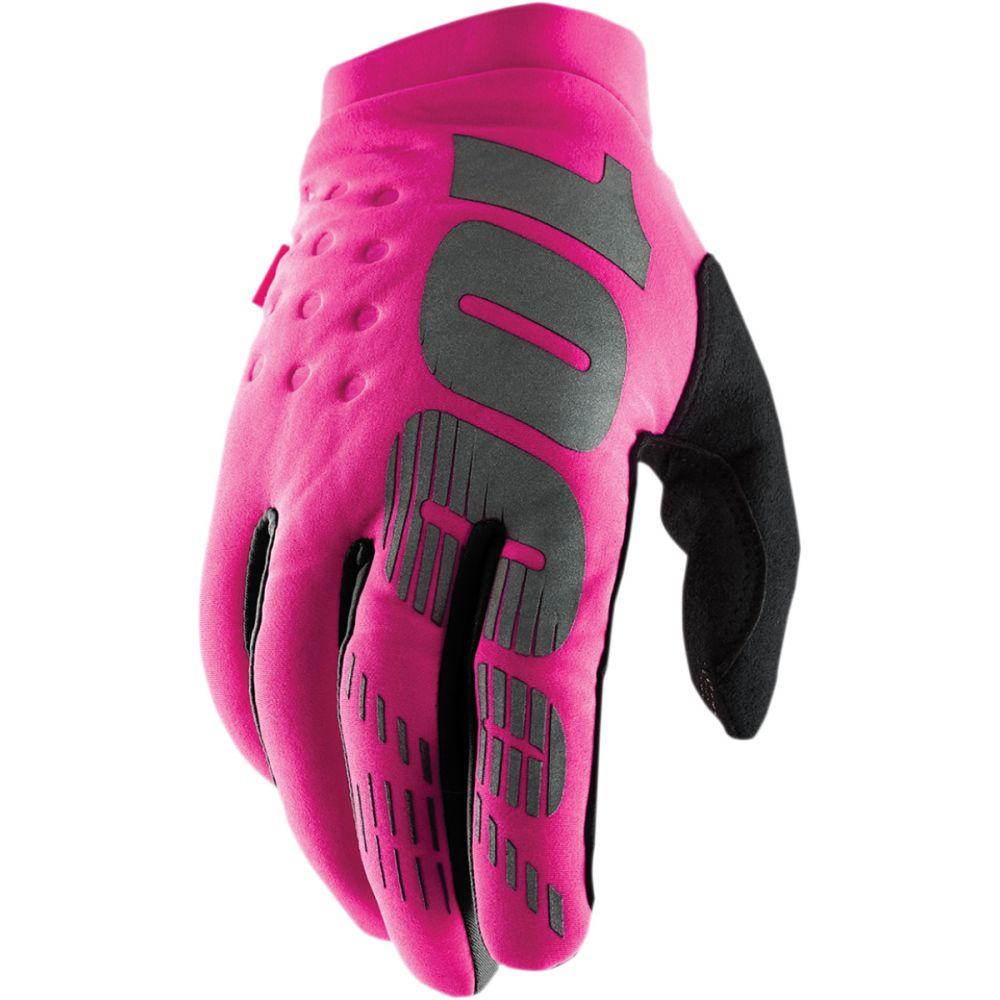 100% Brisker Women MX MTB Damen Winter Handschuhe pink