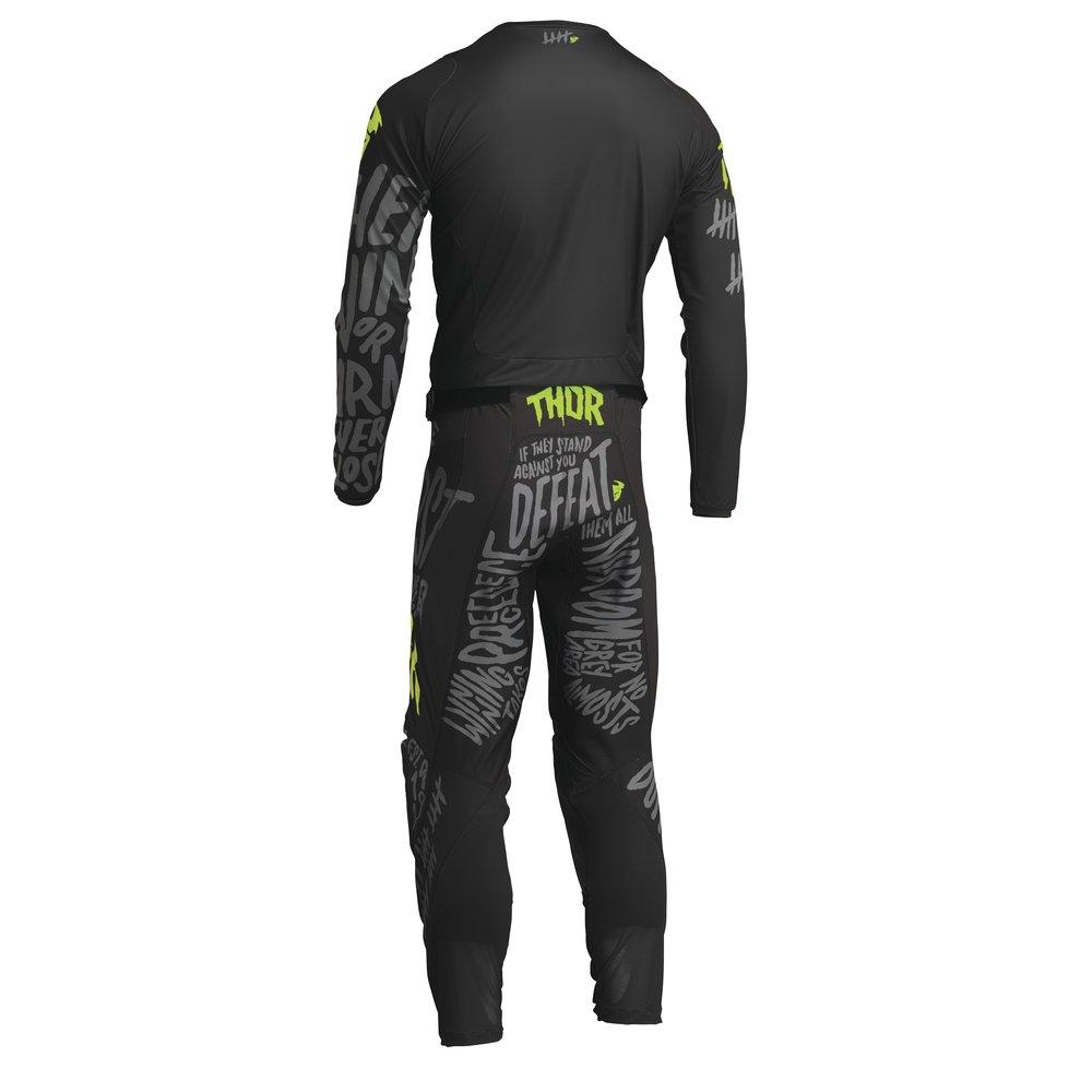THOR Pulse CNTSHP Motocross Jersey grau gelb