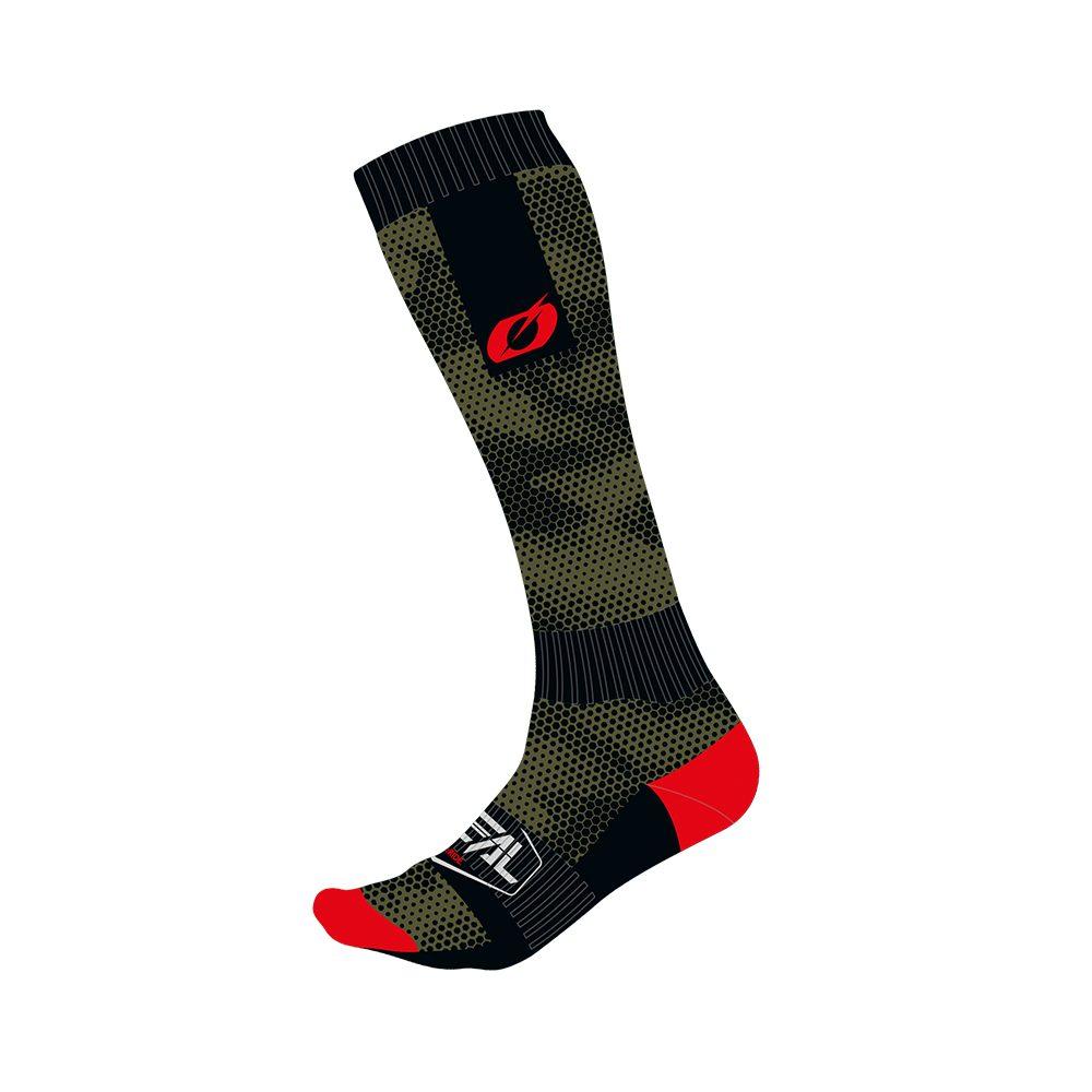 ONEAL PRO Covert MX Socken schwarz grün