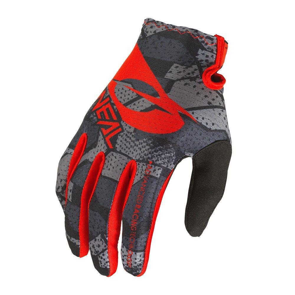 ONEAL Matrix Youth Camo V.22 MX MTB Kinder Handschuhe schwarz rot