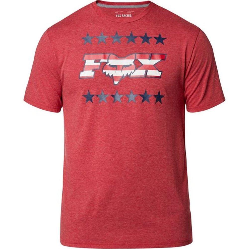 FOX Brake Free T-Shirt heather chili rot