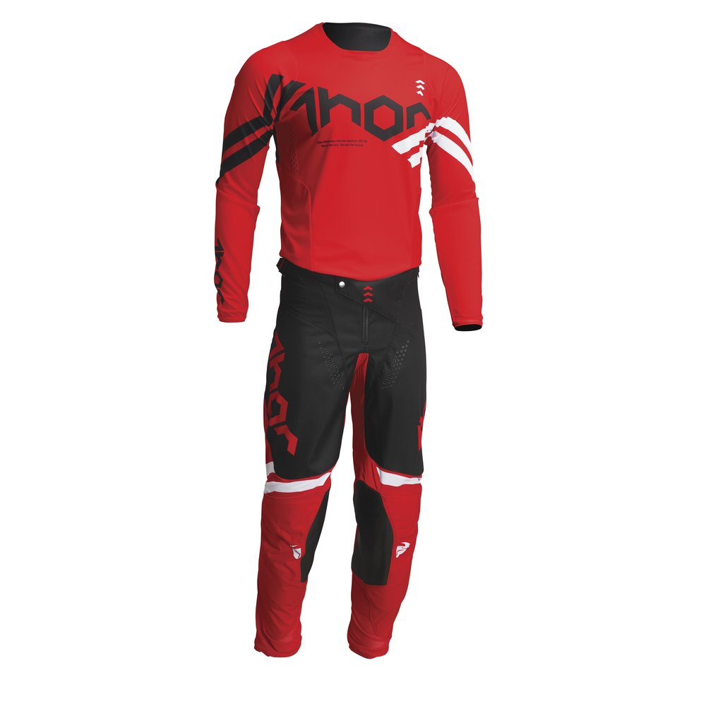 THOR Pulse Cube Motocross Jersey rot weiss