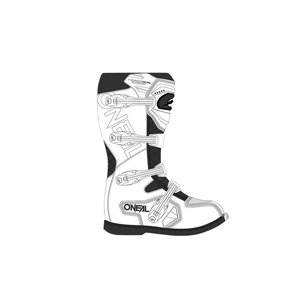 ONEAL Rider Pro Boot Motocross Stiefel weiss