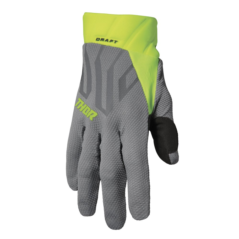 THOR Draft Motocross Handschuhe grau gelb