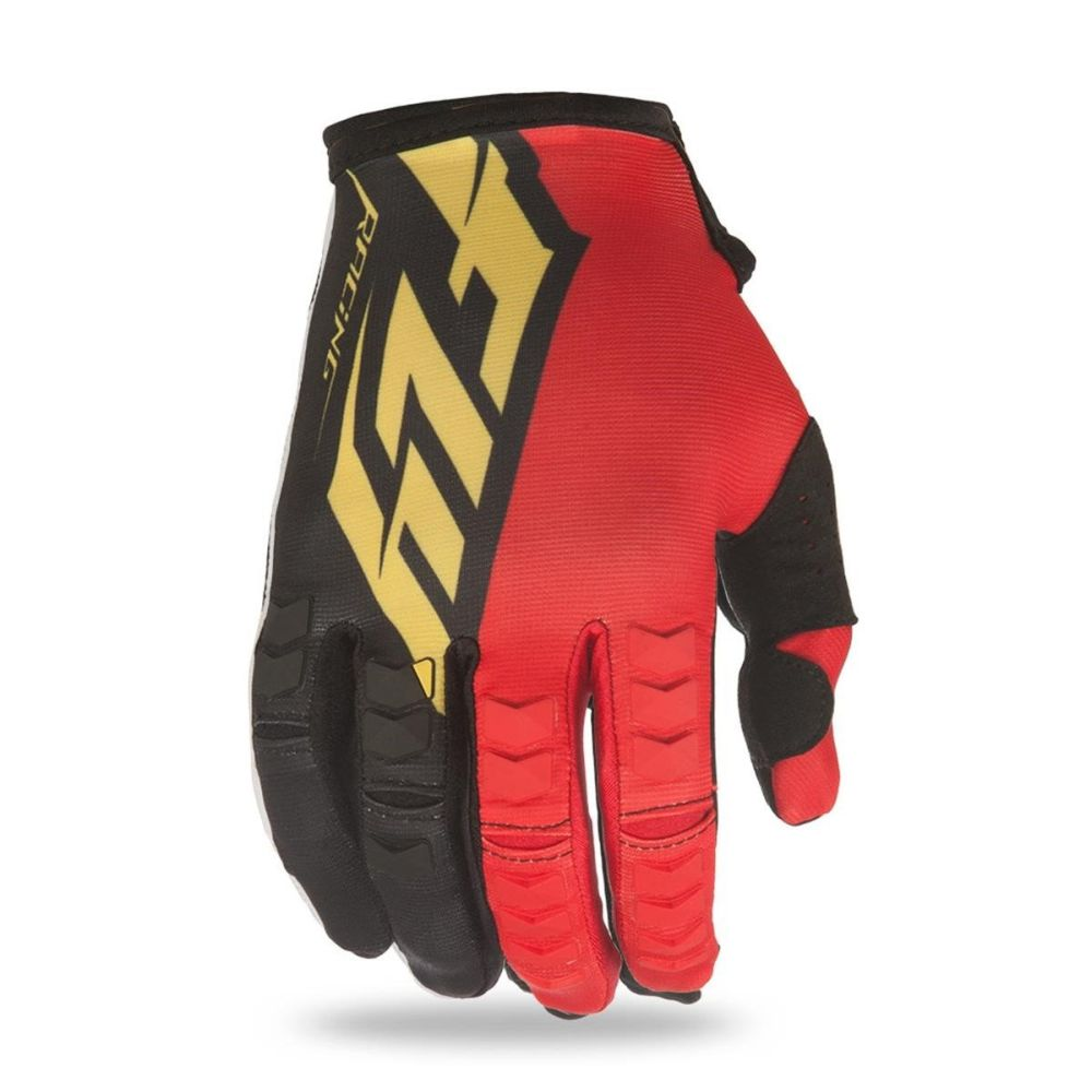 FLY Kinetic MX MTB Handschuh rot schwarz gelb